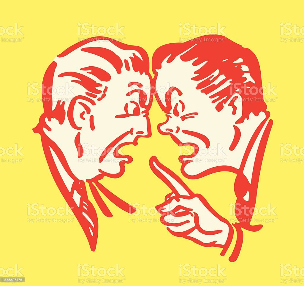 Men Arguing vector art illustration
