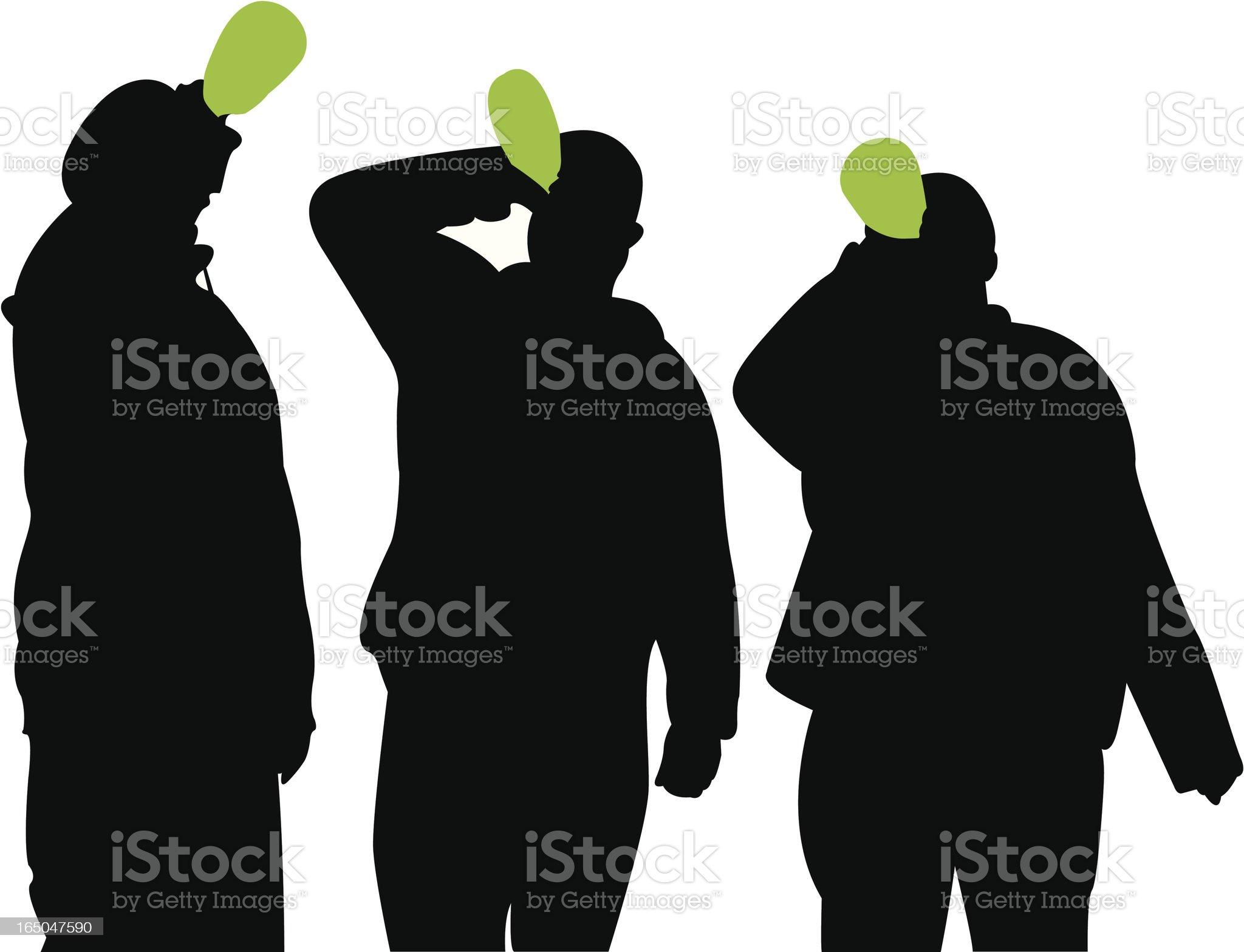 Men Drinking royalty-free stock vector art