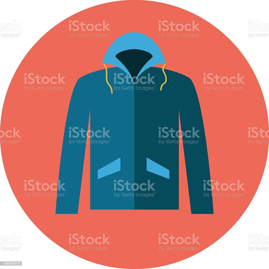 Men Jacket vector art illustration