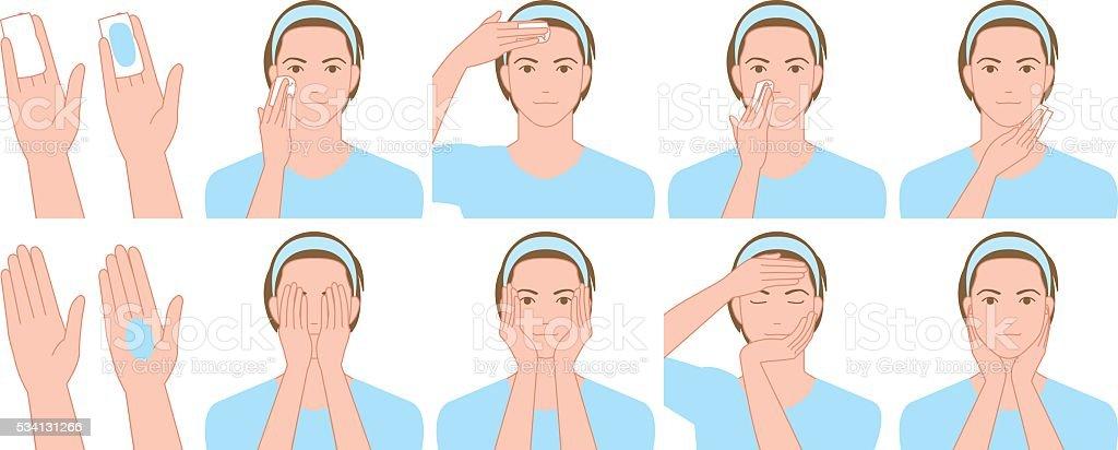 Men to skin care lotion vector art illustration
