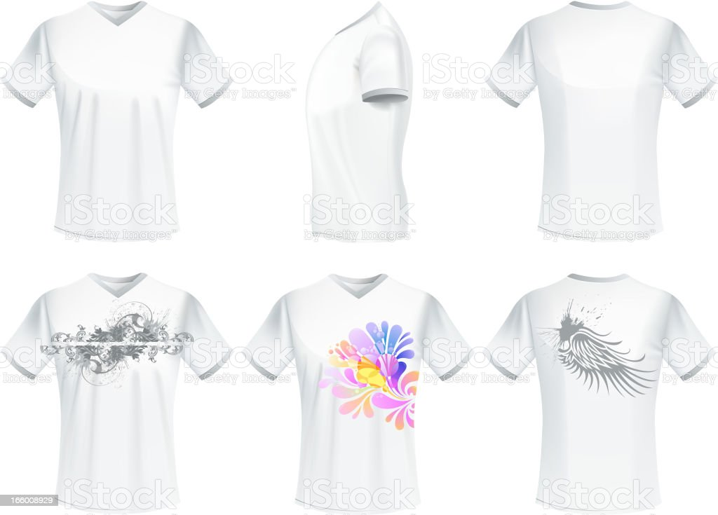 men t-shirt royalty-free stock vector art