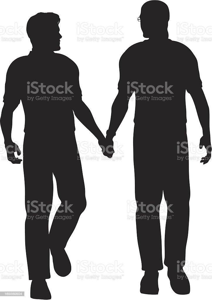 Men Walking vector art illustration