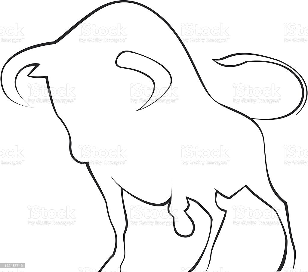 Menacing Bull royalty-free stock vector art