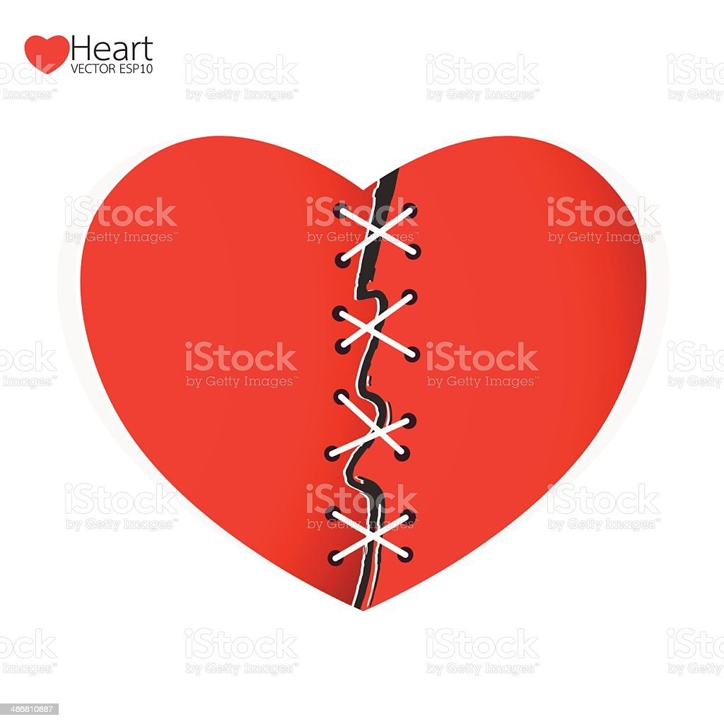 Mend heart a separate concept. Vector illustration. royalty-free stock vector art