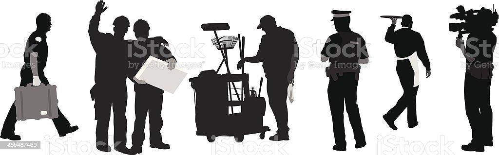 Men'n Jobs royalty-free stock vector art