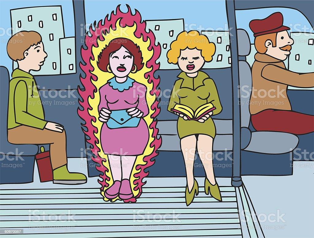 Menopause vector art illustration