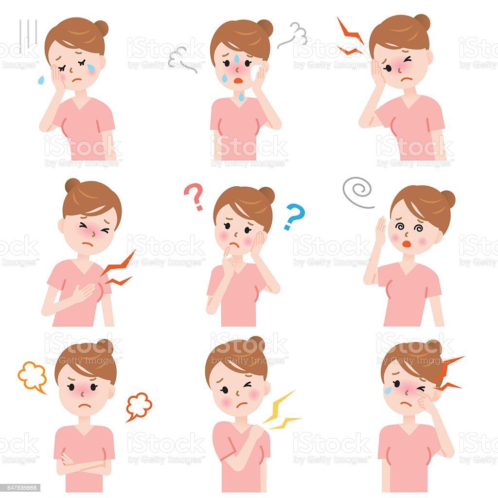 menopausewoman vector art illustration