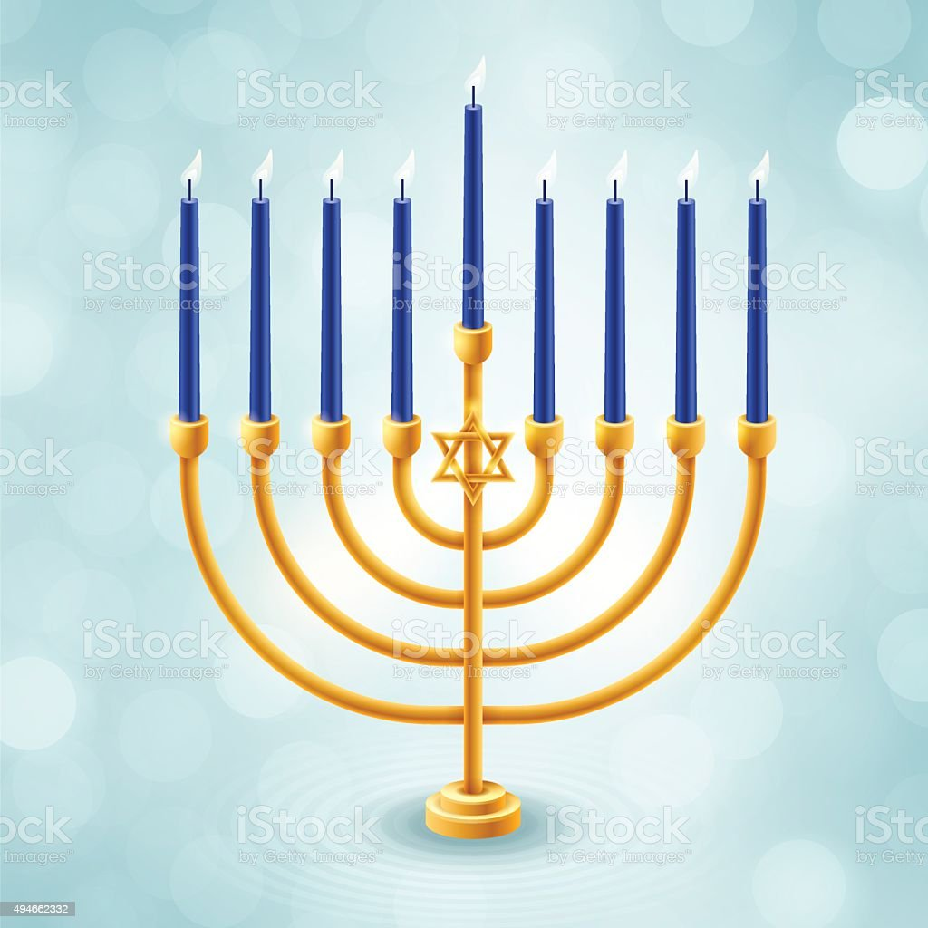 Menorah vector art illustration