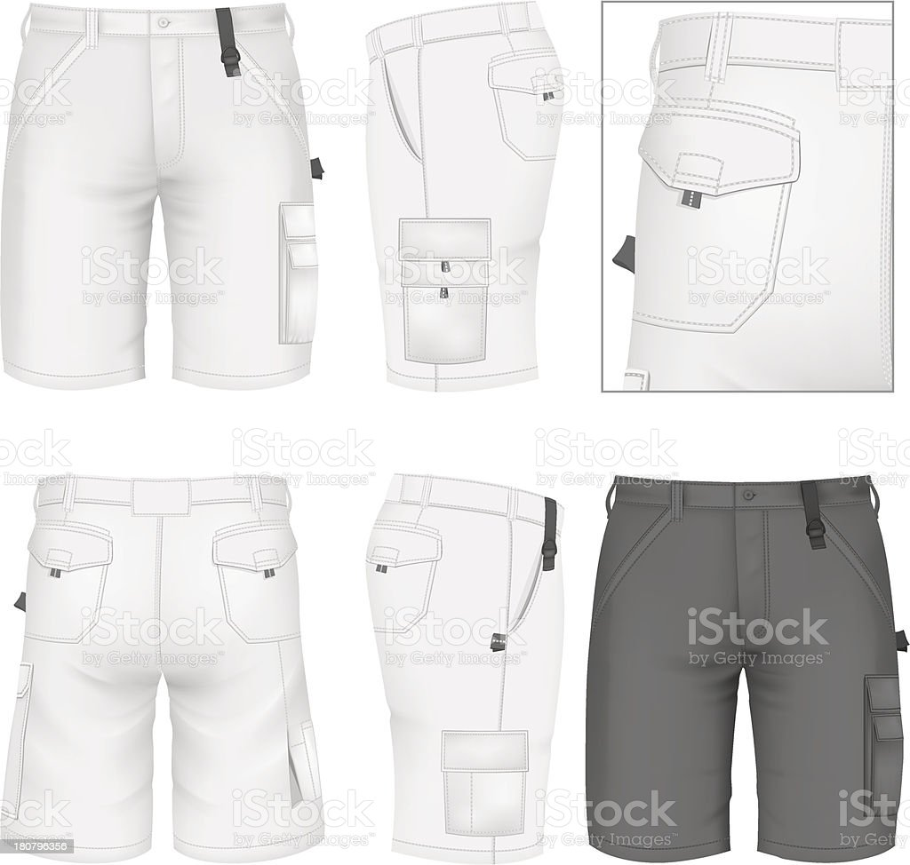 Men's Bermuda shorts design templates vector art illustration