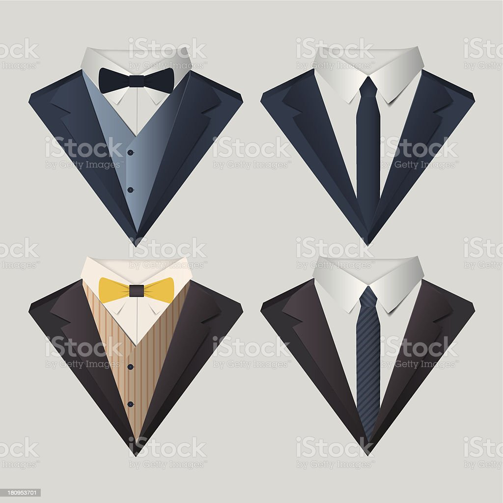 Men's Clothes vector art illustration