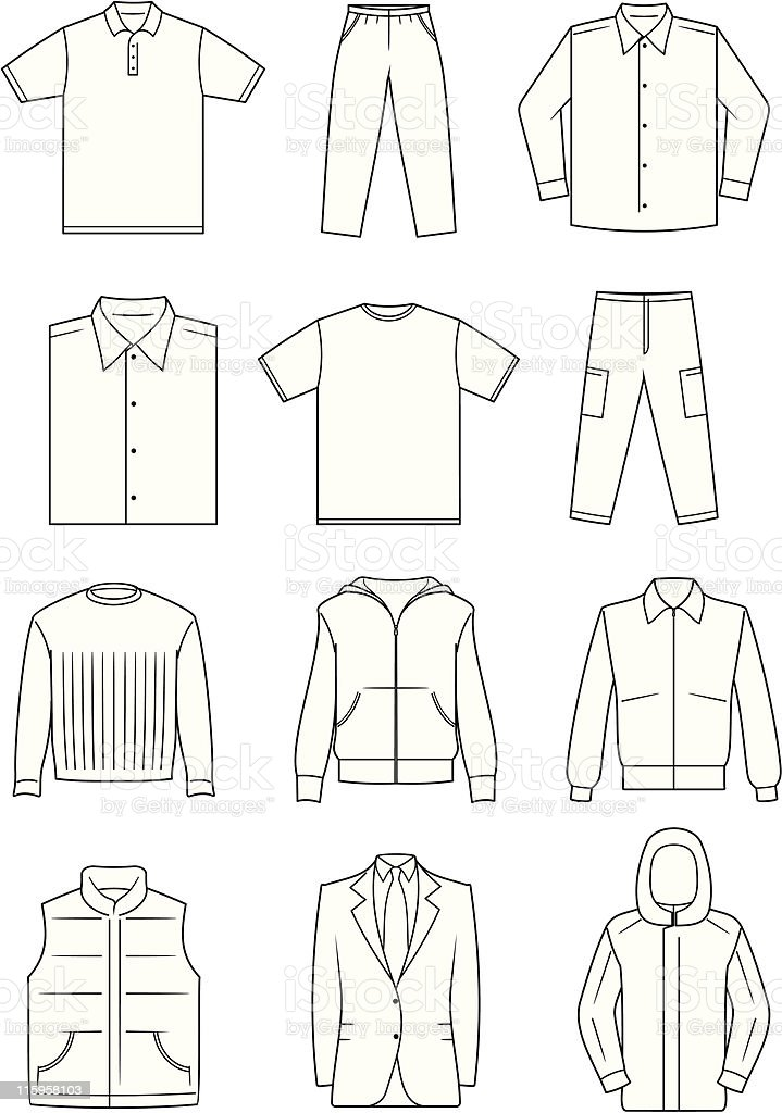 Men's Clothes - Vector Illustration royalty-free stock vector art