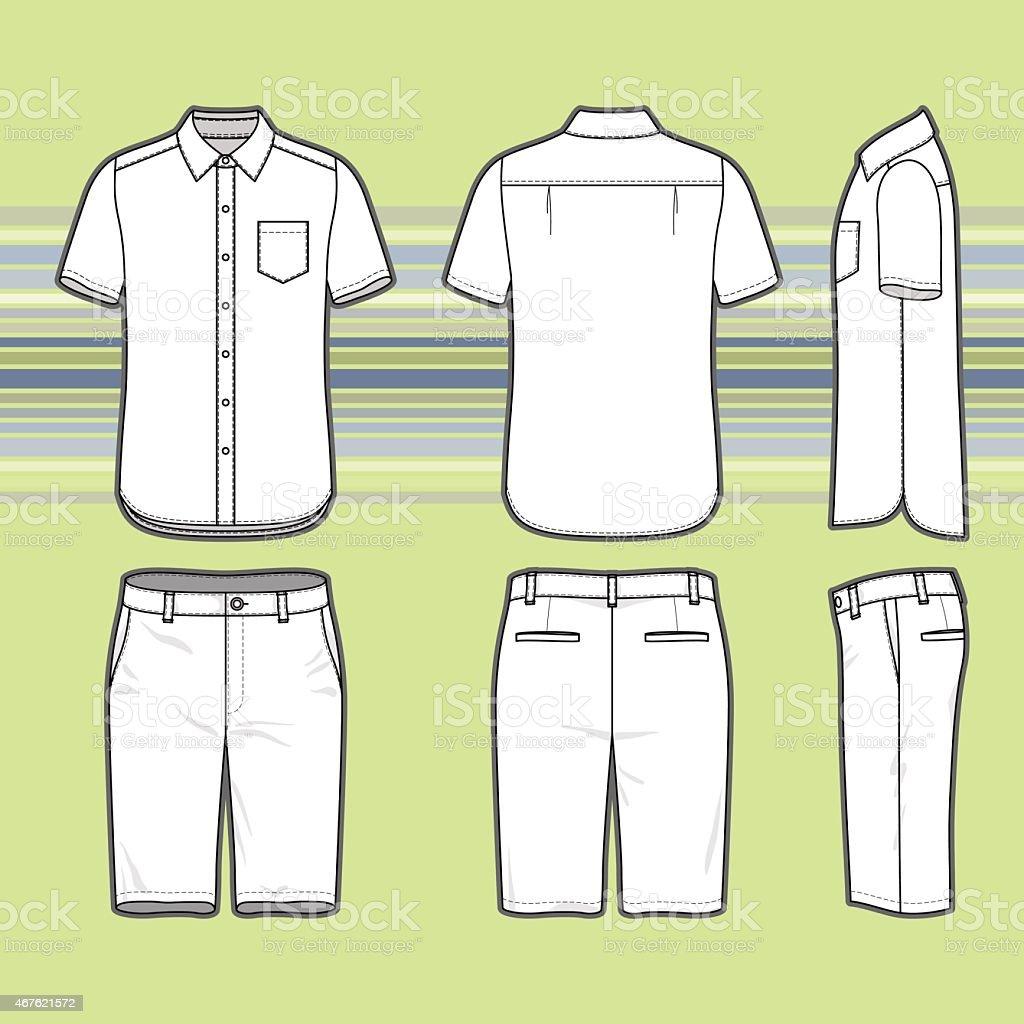 Men's clothing set. vector art illustration