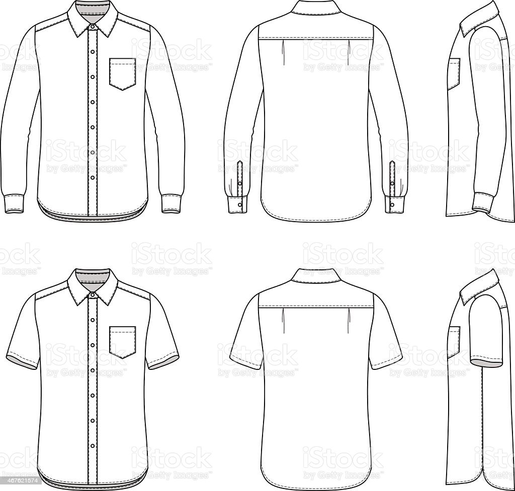 Men's clothing set. vector art illustration