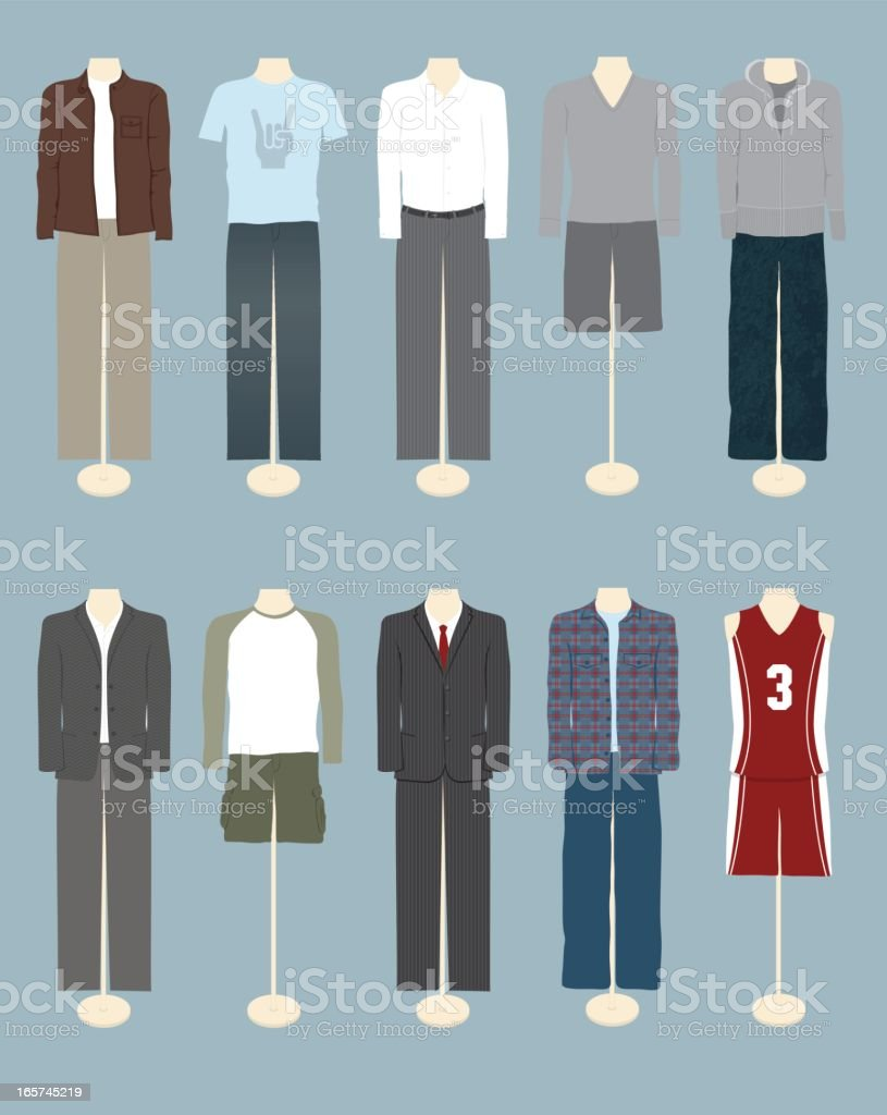 Men's Clothing royalty-free stock vector art