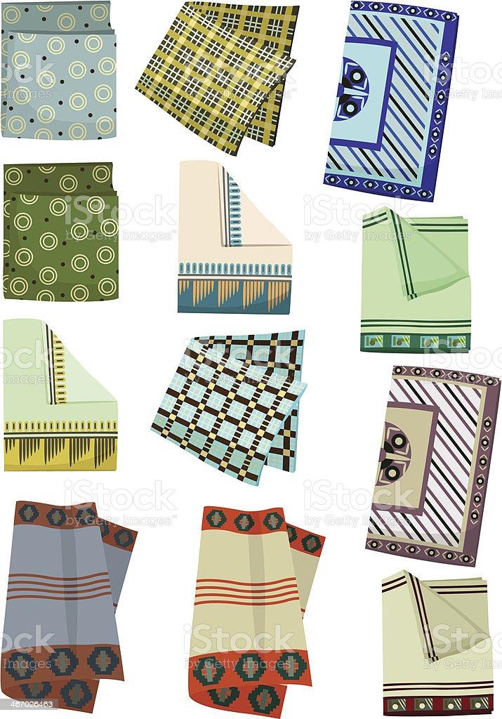 Men's handkerchiefs royalty-free stock vector art