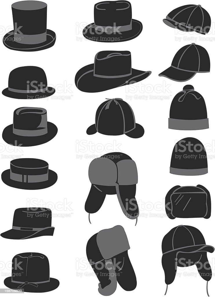 Men's hats stock photo