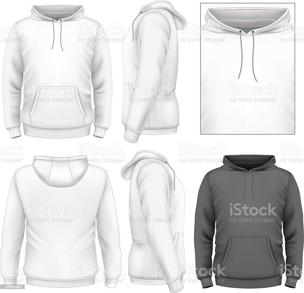 Men's hoodie design template vector art illustration