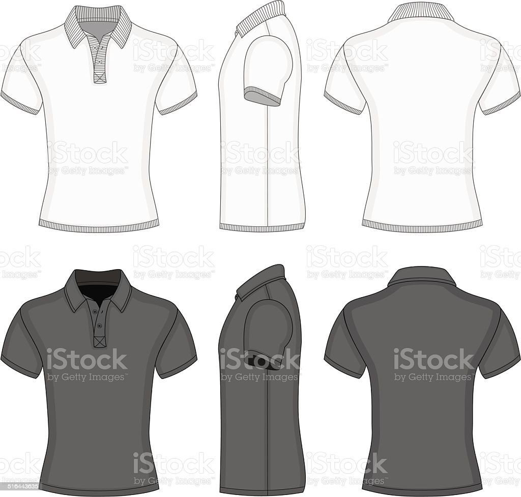 Men's  polo shirt and t-shirt design templates vector art illustration