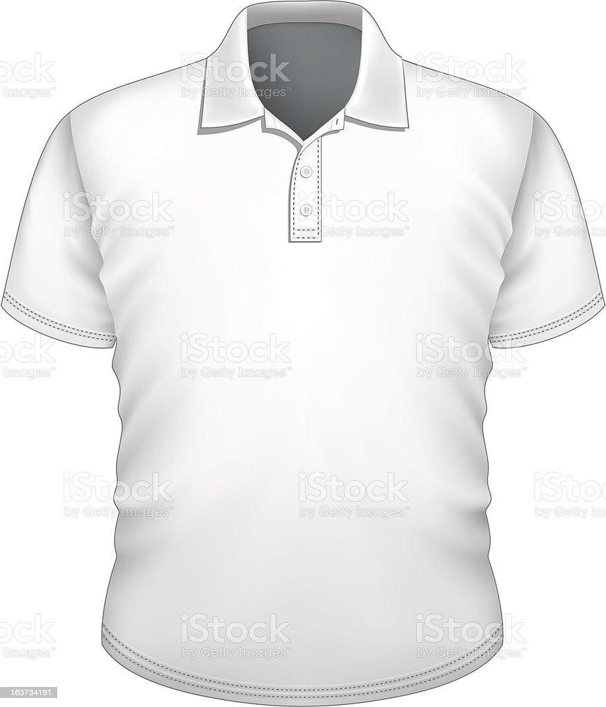 Men's polo shirt design template royalty-free stock vector art