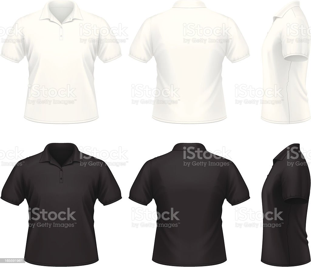 Men's polo shirt vector art illustration