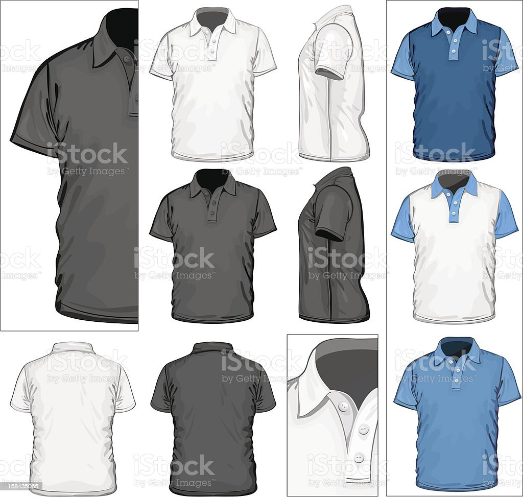 Men's polo-shirt design template royalty-free stock vector art
