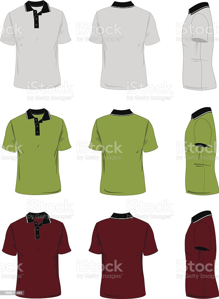 Men's Polo-Shirt Template royalty-free stock vector art