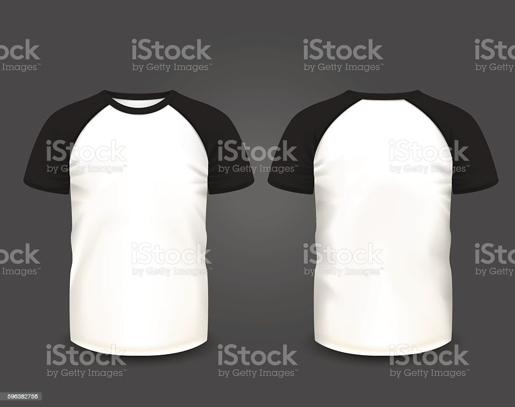 Black t shirt vector front and back - Men S Raglan T Shirt Vector Template Royalty Free Stock Vector Art