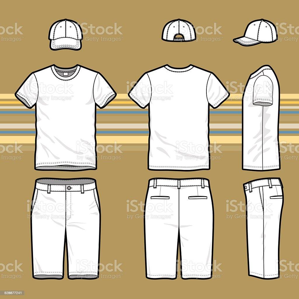 Men's set. vector art illustration