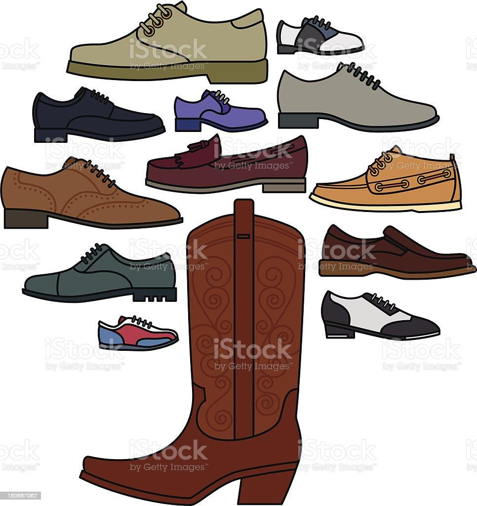 Men's Shoe Tree vector art illustration