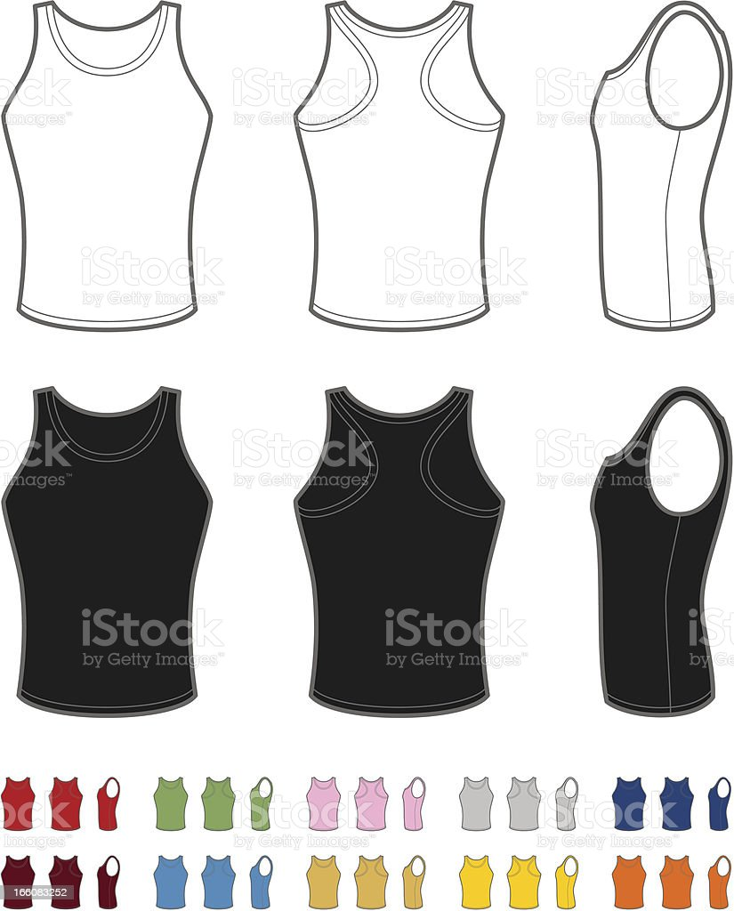 Men's singlet vector art illustration