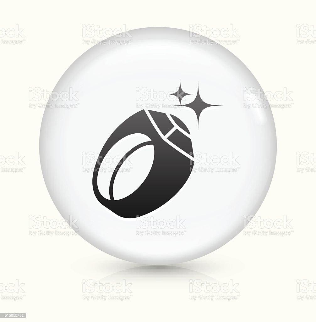 Men's Sports Award Ring icon on white round vector button vector art illustration