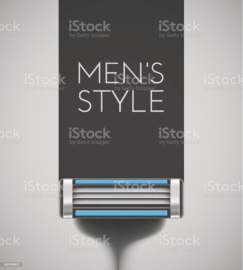 Men's style vector art illustration