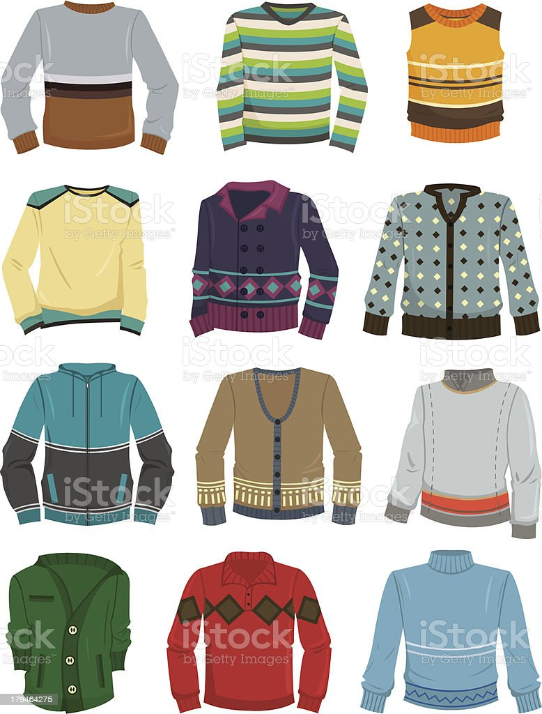 Men's sweaters royalty-free stock vector art