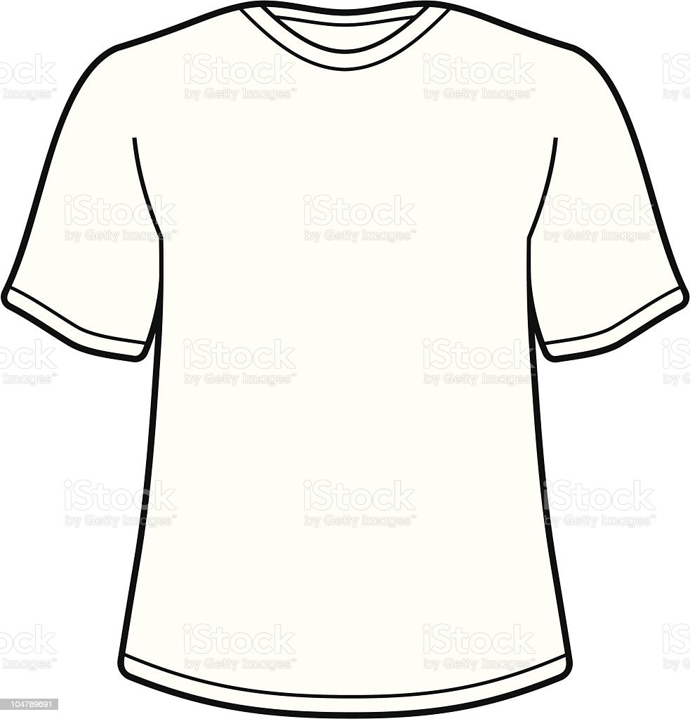 Men's t-shirt illustration royalty-free stock vector art