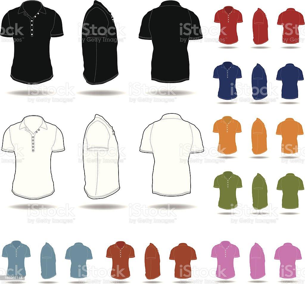 Men's t-shirt vector art illustration