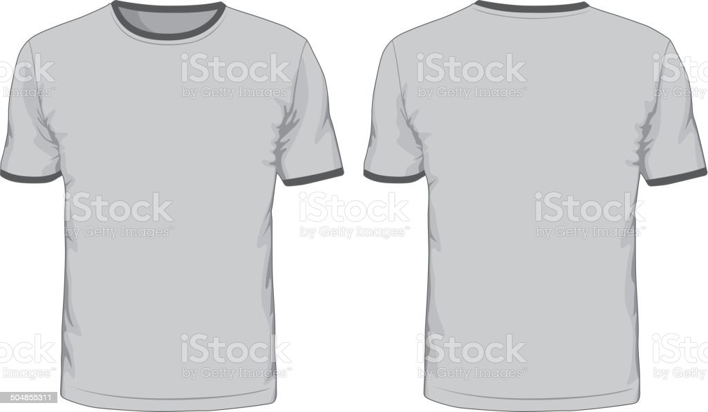 Men's t-shirts template vector art illustration