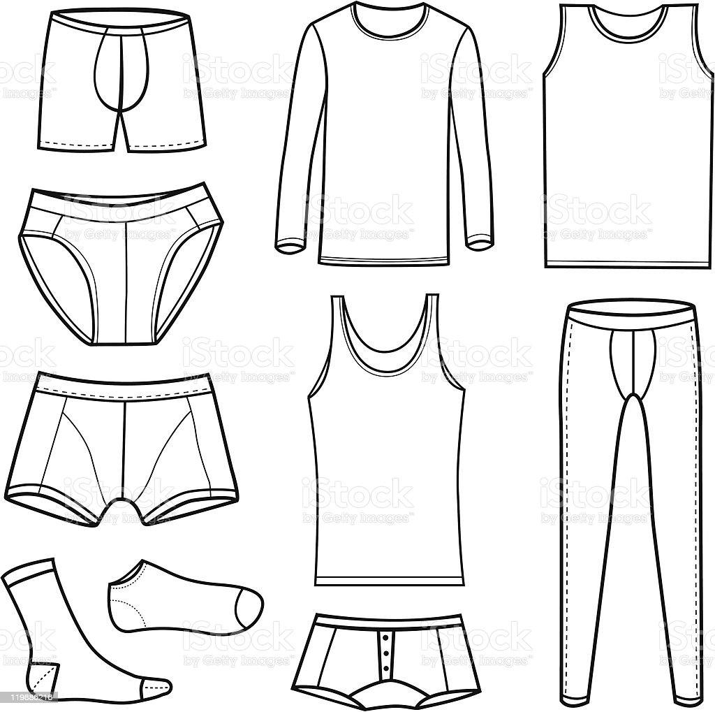 Men's Underwear vector art illustration