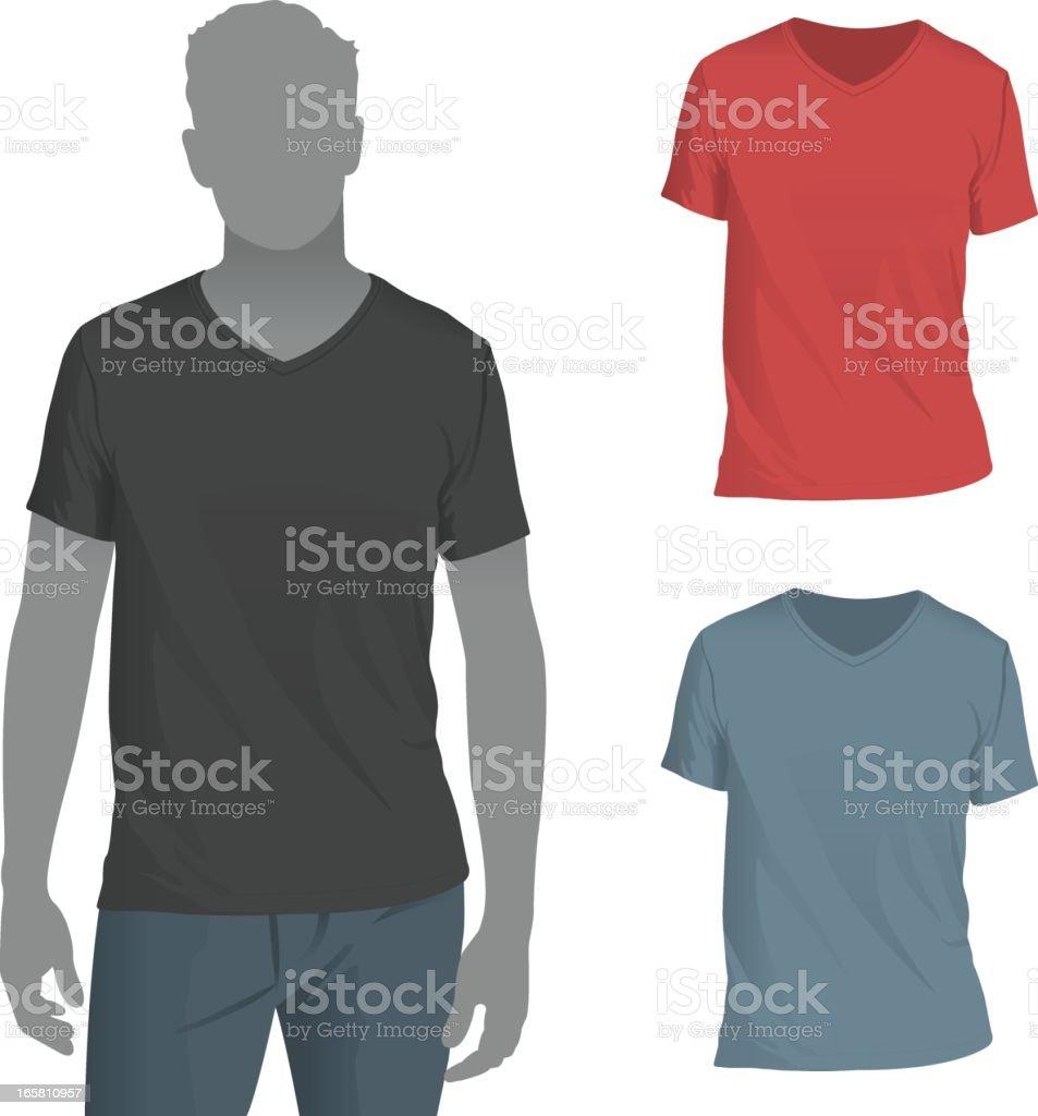Scalable t shirt mockups more info - Men S V Neck T Shirt Mockup Template Royalty Free Stock Vector Art