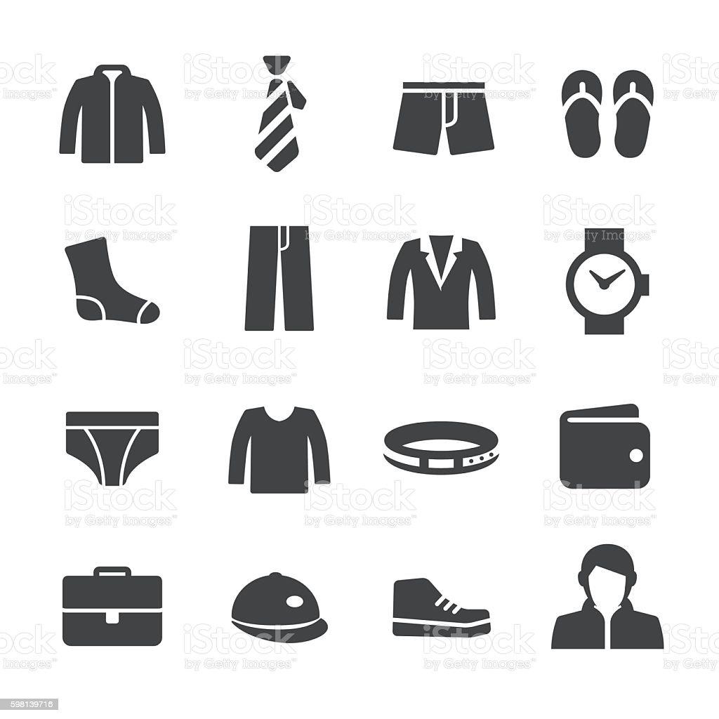 Mens Wear Icons - Acme Series vector art illustration