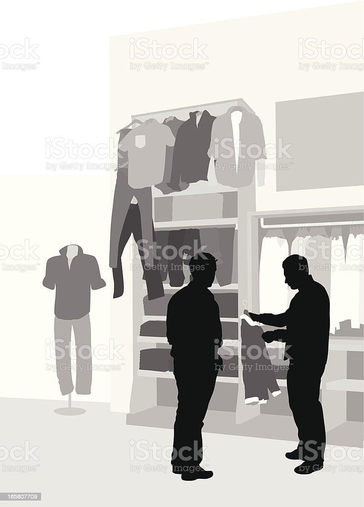 Mens Wear Vector Silhouette vector art illustration