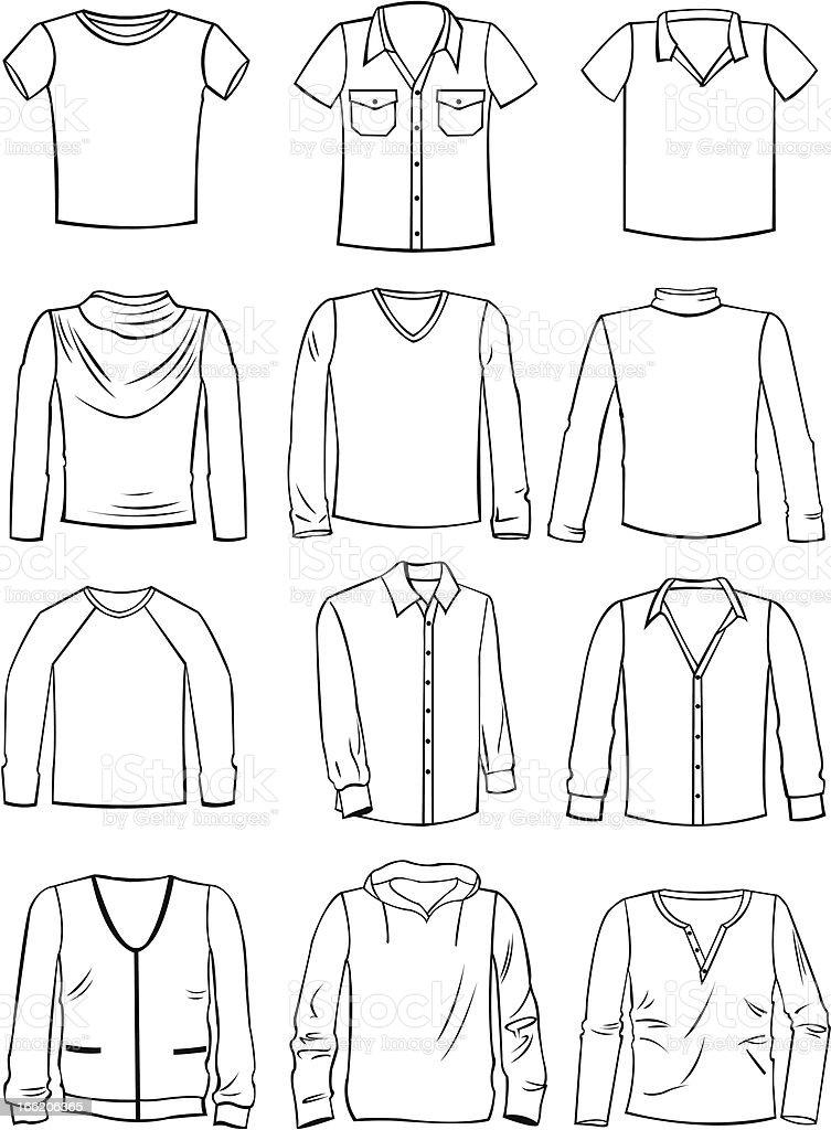 Menswear royalty-free stock vector art