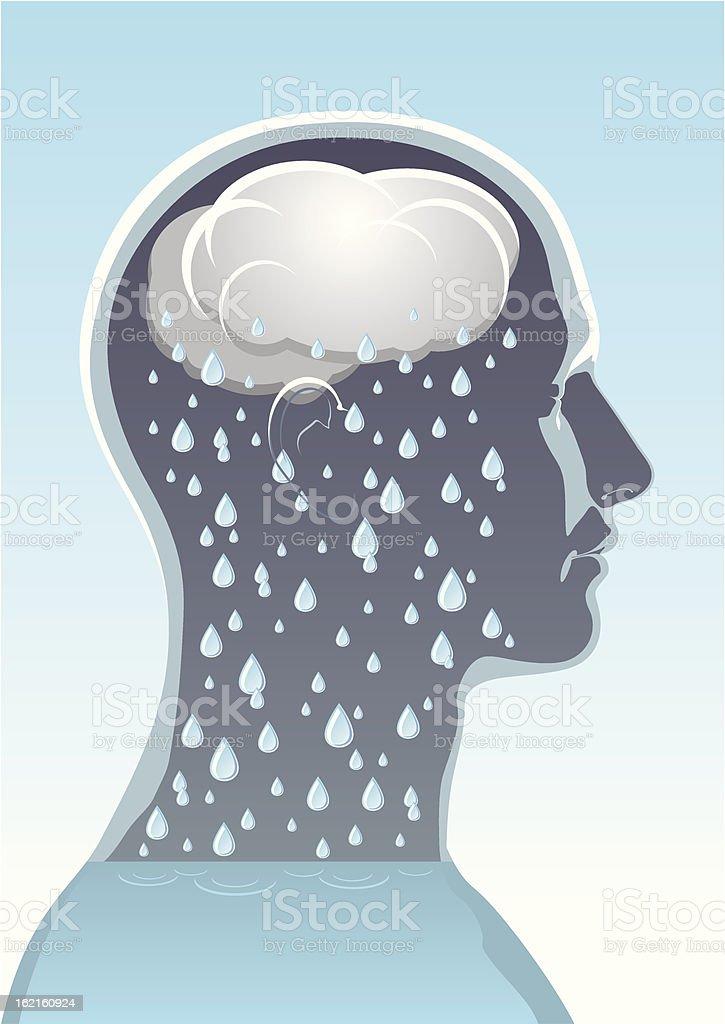 Mental health royalty-free stock vector art