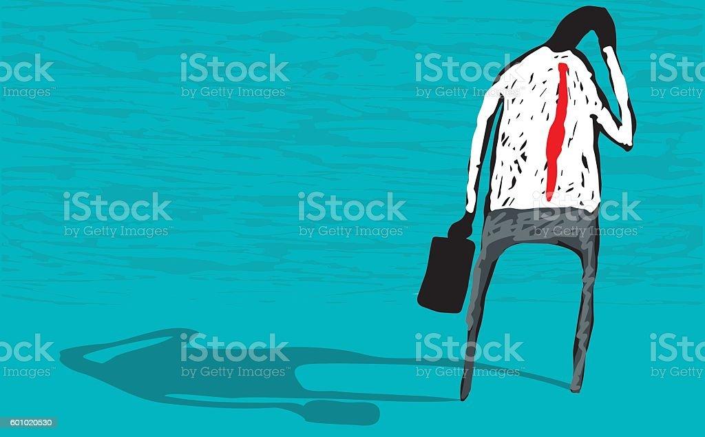 Mental health vector art illustration
