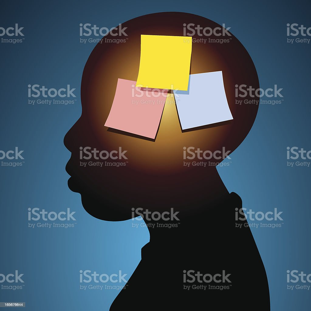Mental notes royalty-free stock vector art