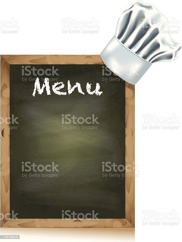 menu board vector art illustration