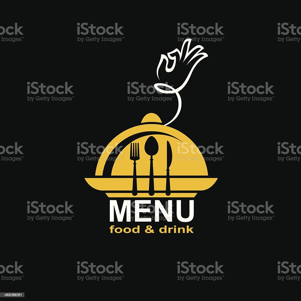 menu design vector art illustration