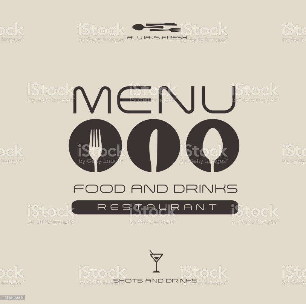 menu design royalty-free stock vector art