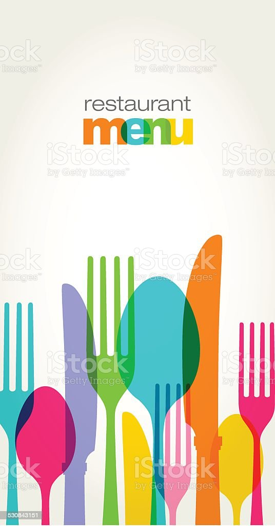 Menu Design vector art illustration
