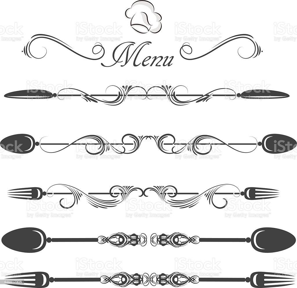 menu divider vector art illustration