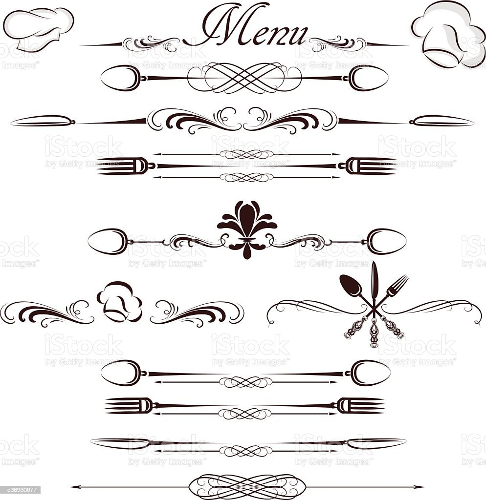 menu divider vector art illustration